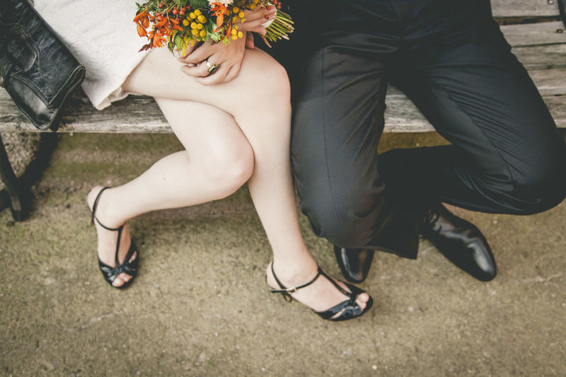 Love Wedding Adult Body Part Bouquet Couple - Relationship Flower Flower Arrangement Flowering Plant Human Body Part Human Leg Leisure Activity Lifestyles Love Low Section Men People Plant Positive Emotion Real People Shoe Togetherness Two People Well-dressed Women