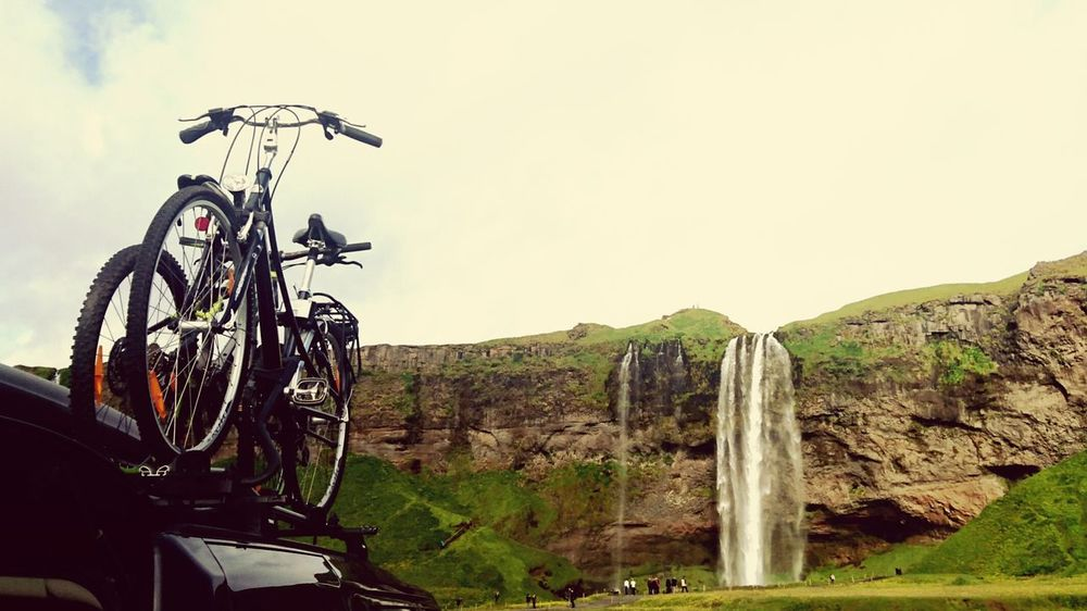 Bicycle Waterfall Skogafoss Skogafoss Falls, Iceland Ecology Rural Landscape Beauty In Nature Iceland Environmental Conservation Inspiring Excursion Sports Sports Life  Nature Scenery Nature Photography Silent Moment EyeEm Gallery Eyeem Market EyeEm Best Edits Nature's Diversities Summer Sport Tourism Bicycle Trip Bicycle Ride Exciting Adventures