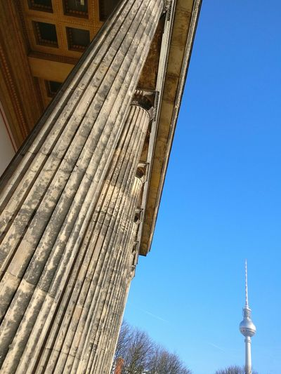 Architecture Built Structure Low Angle View Building Exterior Tower No People Outdoors City Sky Travel Destinations Clear Sky Day Skyscraper Urban Landscape Urban Geometry Blue Sky Architecture Alexanderturm Berlin Berlin TV Tower Berlin Museum