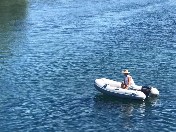 Huckleberry Finn? Gananoque, Canada Water Nautical Vessel Transportation Men Outdoors Nature High Angle View Waterfront Beauty In Nature Lifestyles