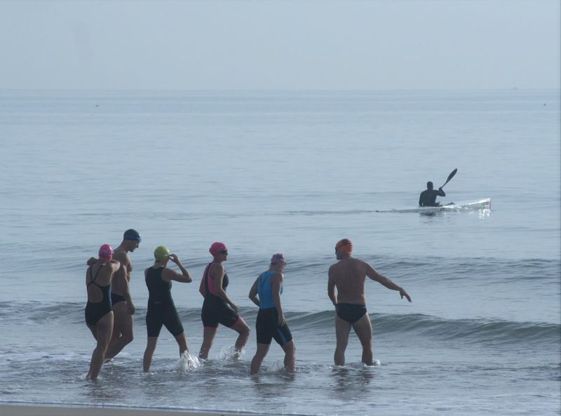 open water swimmers Beauty In Nature Blue Wave Durban Beachfront Early Morning Fishing Time Fitness Training Healthy Lifestyle Horizon Over Water Nature Open Water Swimming Sea Seaside Shoreline Swimmers Swimmers In The Sea Water Alternative Fitness