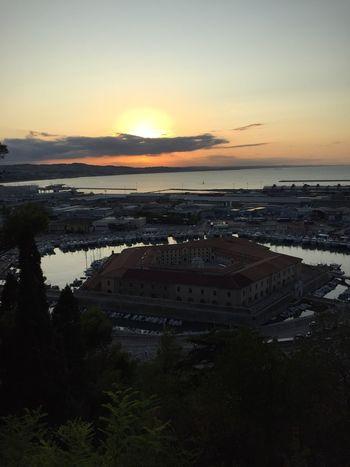 Mole vanvitelliana Ancona Sunset Nature Beauty In Nature Scenics Water Sky First Eyeem Photo