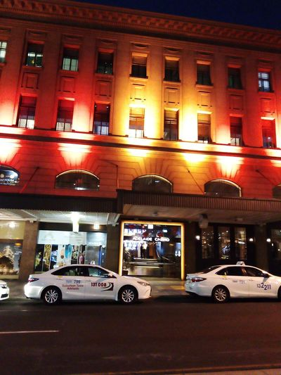 Taxi Road Check This Out Australia Light Building Adelaide Casino AdelaideCasino Street Photography Adelaide, South Australia Adelaide Taking Photos Casino Night Nightphotography Street Streetphotography Illuminated Architecture Building Exterior Built Structure Gambling