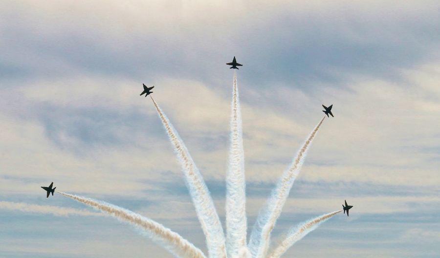Blue angels air show at china lake naval air station in california