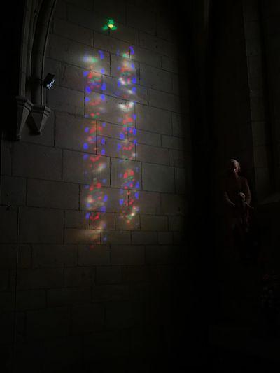 Church lights Statue Catholic Church Stained Glass Church Lighting Church Illuminated Indoors  Window Architecture