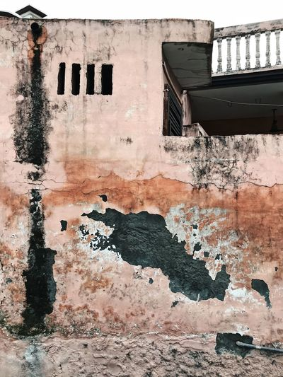 Indian Paint Pink Rural Textured  Textures Textures and Surfaces Wall Wall Art Weathered Architecture Building Building Exterior Built Structure No People Outdoors Peeling Off Pink Color Rural Scene Texture Wall Wall - Building Feature Wall Textures Weathered