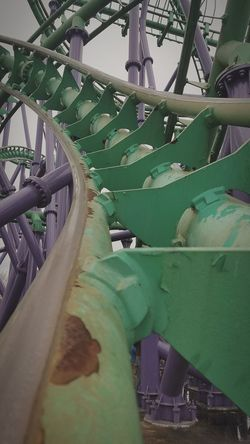 Joker Spaghetti Amusement Park Theme Park Roller Coaster Rollercoaster Ride Thrill EyeEmNewHere Sky Travel Outdoors Fun Steel Looping Inverting Loop Six Flags America Park Day Amusement Park Ride Green Color Purple Joker Jokers Jinx