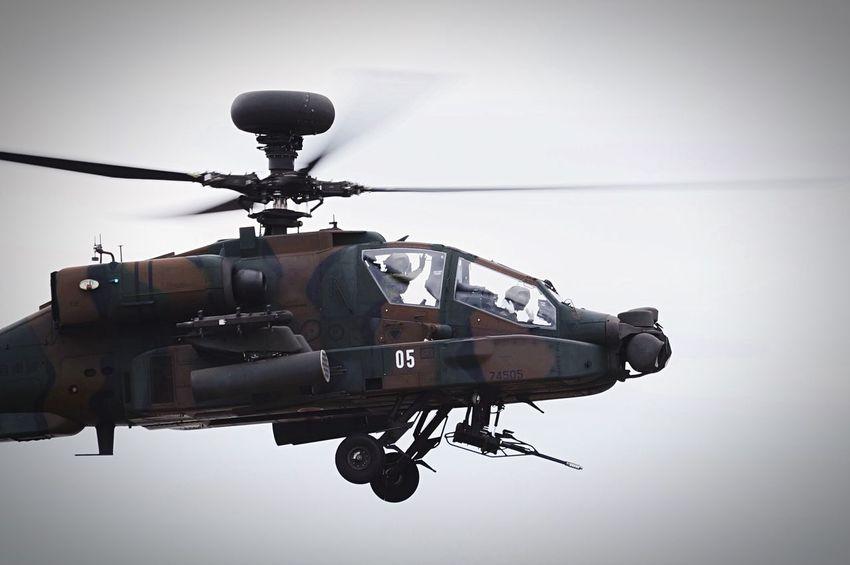 Hi! JGSDF Taking Photos Aviation Apache Longbow Fly