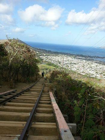 Hello World Aloha World On A Hike Enjoying The Sights Koko Head Hike Stairs