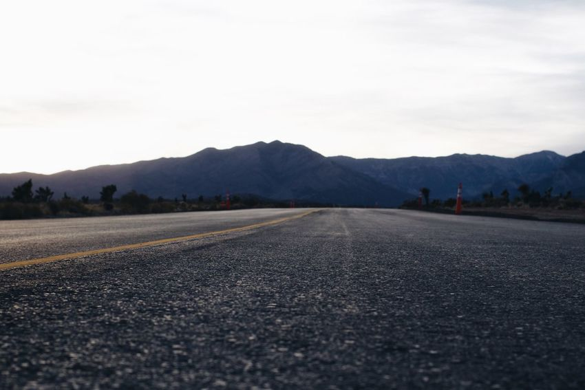 Calm Composition Desert Distant Empty Places Empty Roads Exploring Outdoors Perspective Remote Road Roadtrip Scenics Tranquil Scene Tranquility