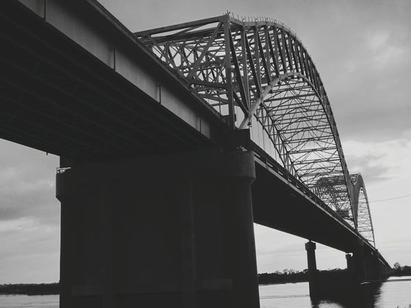 Memphis Bridge over Mississippi River Monochrome_life B&w Beauty Everywhere Bridge Love