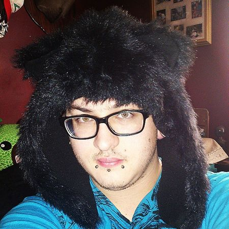 Day 4: Fuzzy Bear Hat Guy Tflers Brony Piercing Stretchedlobes Labret Wayfarers Selfies Plugs Snakebites Male Emo Stretchedears Mlp Fim Attractive Brown Otaku Cute Gauges Guyswithplugs Guyswithstretchedears Bodyjewelry Evantelico Selfie geek freak fuzzy bear hat