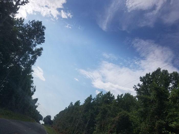 Riding blue sky