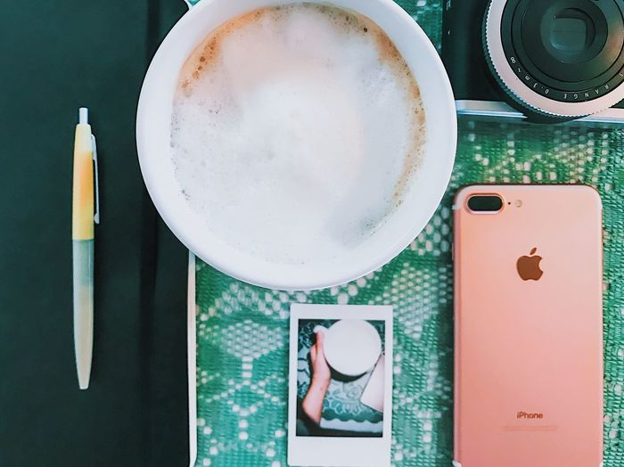 day 7 - I'm nothing without a cappuccino in my system 😩☕️ Instant Photo A Day Cappuccino Journal IPhone 7 Plus VSCO Food And Drink Coffee - Drink Drink Coffee Cup Directly Above Table Indoors  Refreshment Cup Freshness No People Frothy Drink Healthy Eating Close-up Day Film Camera