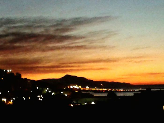 Before sunrise Sunrise Dramatic Sky Smartphone Photography S3 Mini Mobilephotography City Mountain Illuminated Silhouette Water Dramatic Sky Sky Atmospheric Mood Scenics