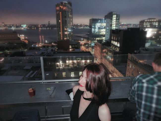 on a rooftop The Portraitist - 2017 EyeEm Awards NYC Manhattan Adult Cityscape Clubbing Bar Cocktail Nightlife Night Life Dressed Up Dress Night City Skyscraper People Building Exterior Built Structure Architecture Adults Only Outdoors Sky Young Women Young Adult Beautiful Woman Sommergefühle Investing In Quality Of Life