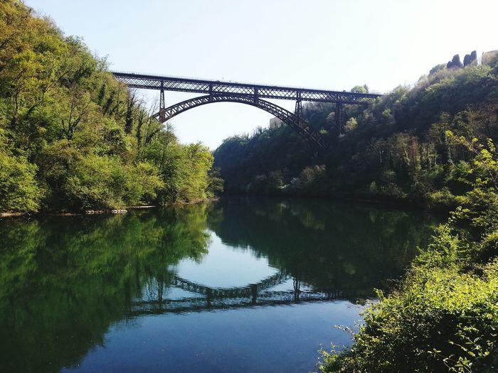 Bridge - Man Made Structure Reflection Water Outdoors Padernobridge River Train Bridge Connection