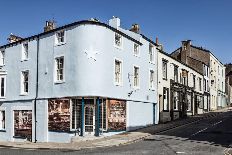 Cumbria England UK Architecture Blue Building Building Exterior City Clear Sky Corner Building Day No People Outdoors Shadow Star Street Summer