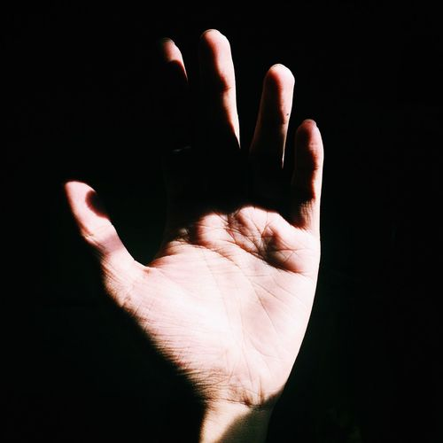 touch me | Human Hand Light And Shadow