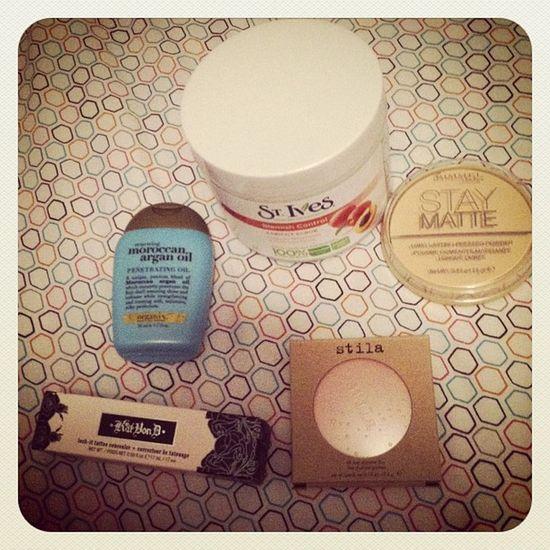 <3 Goodies Excited Sephora Ulta shopping makeup stila arganoil katvond concealer rimmel powder st ives love