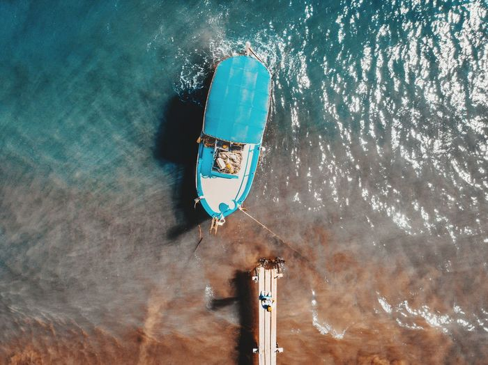 Boat and myself EyeEmNewHere Dji Mavic Air Nature Sunny Boat Pier Fisherman Fishing Summer Above View Aqua Blue Mediterranean  Waves Teal Contrast UnderSea Water Underwater Shore Coast Calm Sea Wave Seascape Ocean