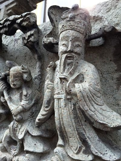 Sculpture Statue No People Religion Close-up Outdoors Day Chinese Style Chinese Old Man Art Timeless Temple Thai Thailand Bangkok EyeEmNewHere
