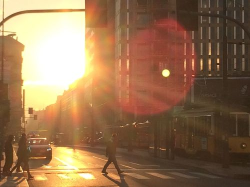 Urban The Purist (no Edit, No Filter) Sun Sunrise Traffic Colors Of Autumn