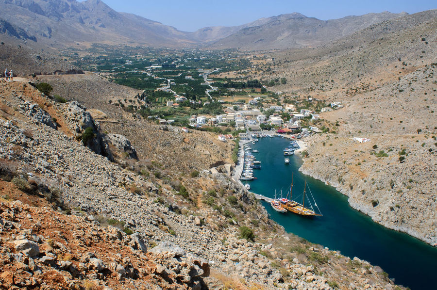 Vathi oasis Agriculture Greek Islands Kalymnos Day Greece Island Landscape Mountain No People Oasis Outdoors Port Rural Scene Scenics Vathi
