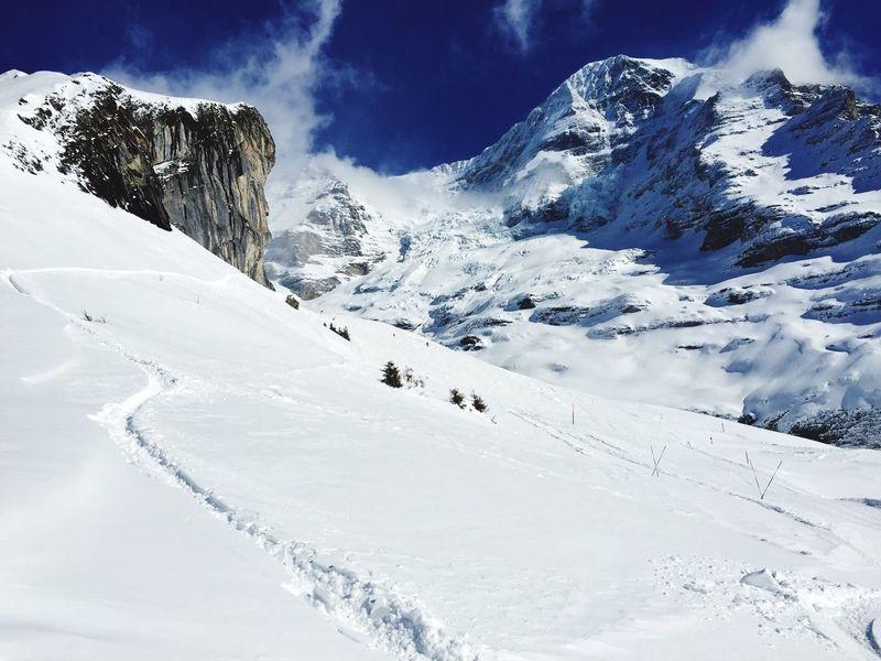 Eiger Skiing Jungfrauregion Winter Snow