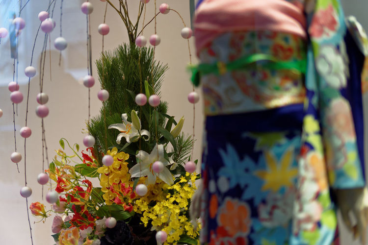 Flower Vase With Decorations At Home