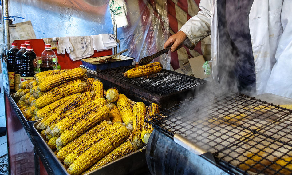Barbecue corns during Japanese new year ASIA Barbeque Close-up Corns Food Food And Drink Japan Japanese