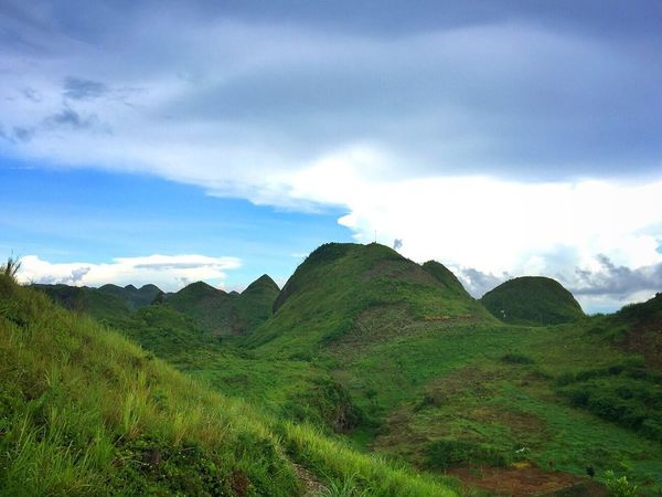 Mountain Beauty In Nature Nature Sky Outdoors Scenics Day Landscape Cloud - Sky Grass Adventure Travel Destinations Scenery Tourism Blue Sky Hill Mountain Range Osmeña Peak Cebu City, Philippines