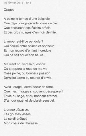 Poesie Poem Orages