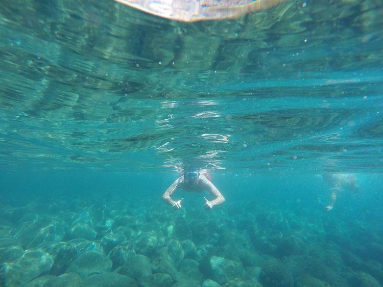 Mare Blu Acqua Profondità Profondo Scogli Water Blue Tranquility