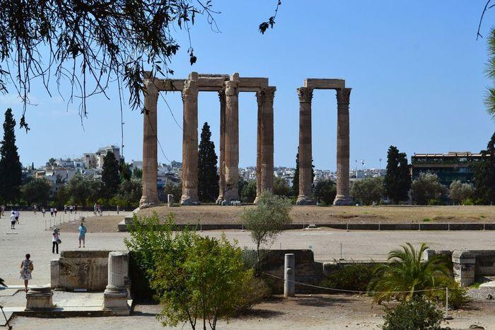 Zeus Temple Athens Atene Zeus Temple Columns Ancient Ruins Greece Grecia Tempio Colonne Travel Destinations Outdoors History Architecture Greekarchitecture Zeus Temple