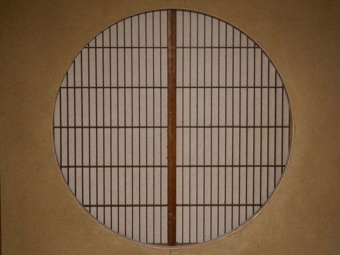 Shape No People Window Close-up Circle Design Built Structure Architecture Wall - Building Feature Wood - Material Grid