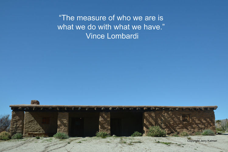 The late great #Footballcoach #VinceLombardi on his birthday quotes over a scene at our nearby stagecoach stop at #Vallecitos in the #AnzaBorrego desert. If this #quotograph resonates with you feel free to #repost for others to enjoy. Blue Clear Sky Day No People Outdoors Quote Sky Vallecitos COunty Stage COach P Vince Lombardi Vince Lombardi #thegreatest