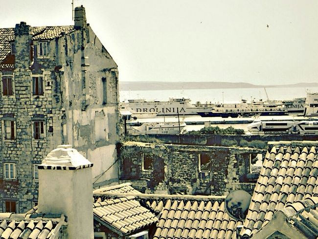 Hello World City View  Oldtown Old Buildings Seaside Abandoned Building Watching Boats