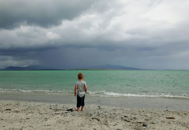 BYOPaper! Uist Rear View Nature People Berneray Nortuist Hebrides Outerhebrides Scotland Scottish Beaches Scottish Beach Toddler  Toddler Boy Childhood The Portraitist - 2017 EyeEm Awards Water Vacations Day Full Length Outdoors Human Body Part Boys Beauty In Nature The Great Outdoors - 2017 EyeEm Awards Toddlersofeyem One Boy Only Live For The Story EyeEmNewHere Sommergefühle Breathing Space The Week On EyeEm Done That. Lost In The Landscape