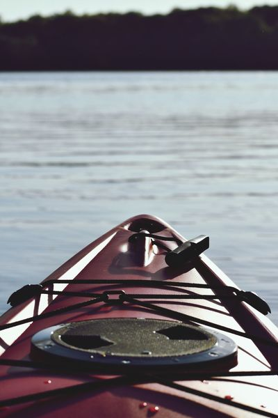 Kayaking Active Fitness Exercise Adventure Hobby Lifestyle Kayak Water Nature No People Lake Transportation Nautical Vessel Day Mode Of Transportation Reflection Focus On Foreground Outdoors Beauty In Nature
