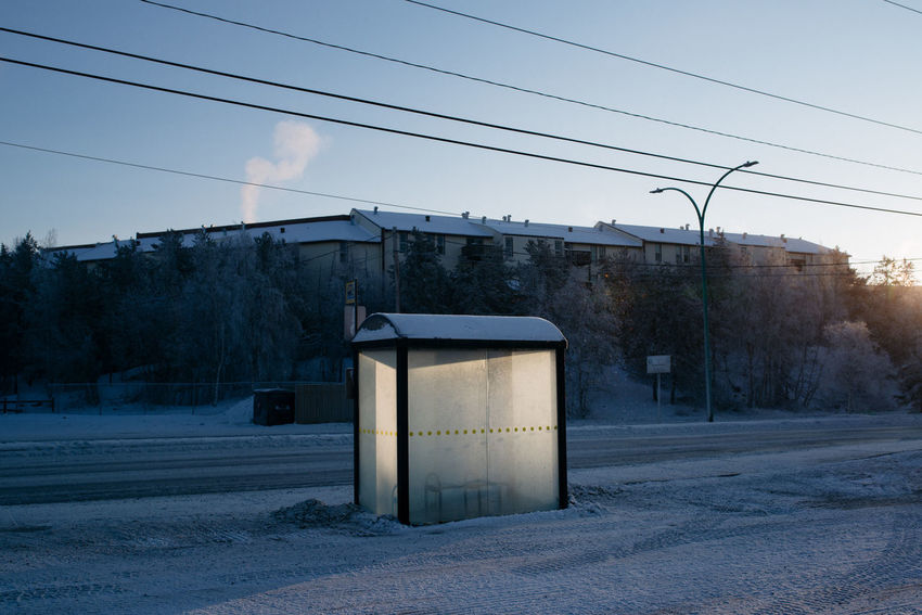 Bus Cold Day Electricity  Nature Northern Canada Northern Ireland Outdoors Sky Tree Yellowknife Fresh On Eyeem