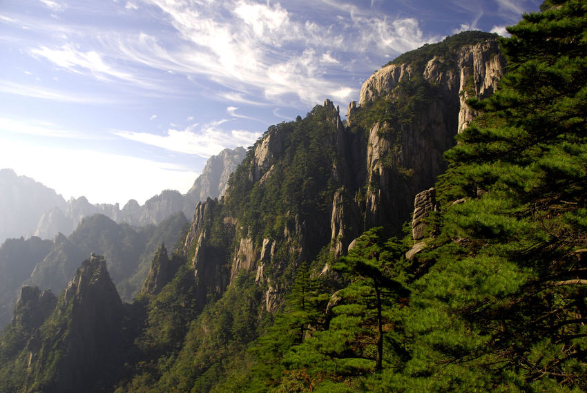Anhui Beauty In Nature China Day Huangshan Landscape Mountain Nature No People Outdoors Peak Range Scenics Sky Tranquil Scene Tranquility Yellow Mountain
