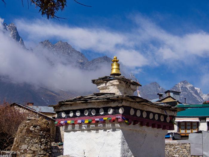Everest Base Trek - Pangboche monastery Himalayas Monastery Buddhist Temple Building Exterior Cloud - Sky Mountain Mountain Range Place Of Worship Religion Spirituality