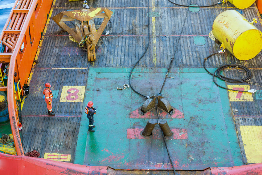 anchor handling activities Construction Installation Nautical Boat Ship Safety Work Redneck Coverall Anchor Handling Oil And Gas Anchor Handling Tug Tugboat Wire Rope Stern Roller Coverall Able Bodied Seamen Offshore Offshore Life Industry