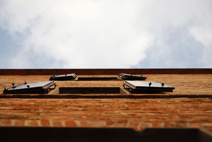 Absence Architecture Bertinoro Brick Bricks Brown Building Building Exterior Built Structure Cloud - Sky Day Italy Low Angle View Nature No People Old Buildings Outdoors Selective Focus Sky Table Wall - Building Feature Water Windows Wood Wood - Material