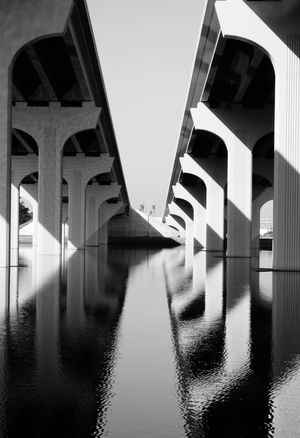 Reflections On The Water Water City Bridge - Man Made Structure Reflection Arch Architecture Building Exterior Built Structure Sky Underneath Bridge