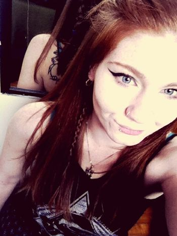 Punkprincess Blue Eyes Redhead Metalmulisha