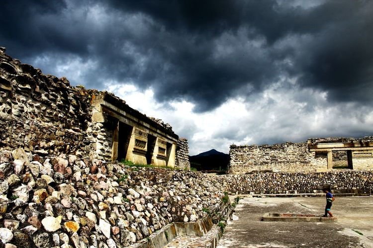EyeEm Selects Ruins Cloud - Sky Rainy Days Clouds And Sky Mitla Architecture Ancient Civilization Mexico Oaxaca Travel Destinations Outdoors Sky Ruins Of The Past Piramide Raining Day Gray Clouds Architecture People Built Structure Adult Law Building Exterior Day Only Men