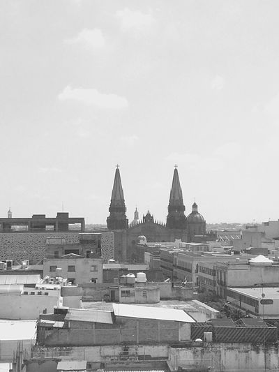 Architecture Built Structure Sky Building Exterior City Cloud Guadalajara Jalisco Catedral De Guadalajara Outdoors Cloud - Sky No People Town Residential District Rooftop Tranquility City Life