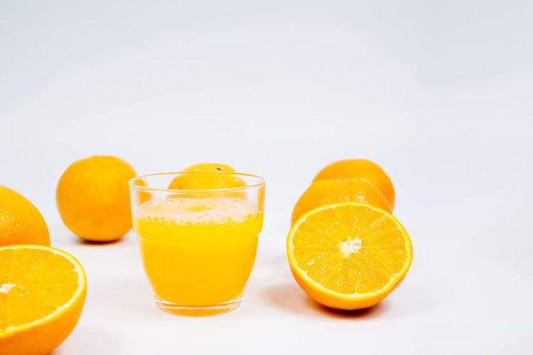 Yellow and orange against white background
